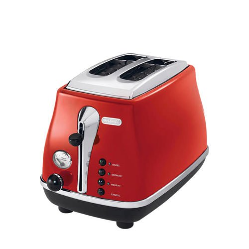 DeLonghi Icona 2 Slice Toaster Red