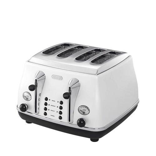DeLonghi Icona 4 Slice Toaster White