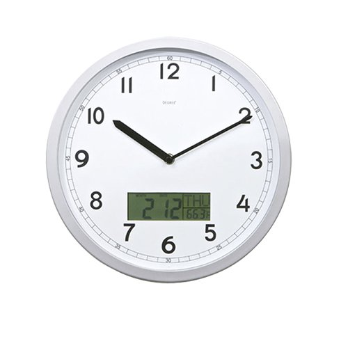 Degree Digi-Date Calendar Wall Clock