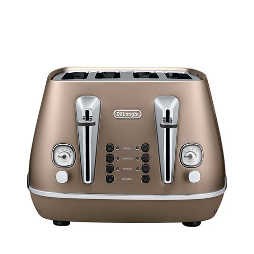 Delonghi Distinta 4 Slice Toaster Bronze