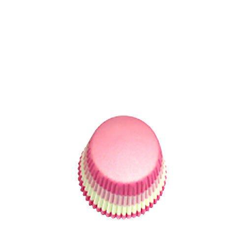 Fox Run Cupcake Paper Pink White Wavy 48pk