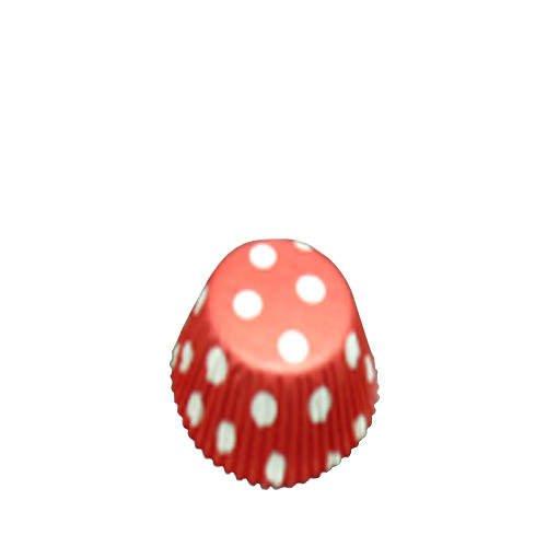 Fox Run Cupcake Paper Red & White Dots 48pk