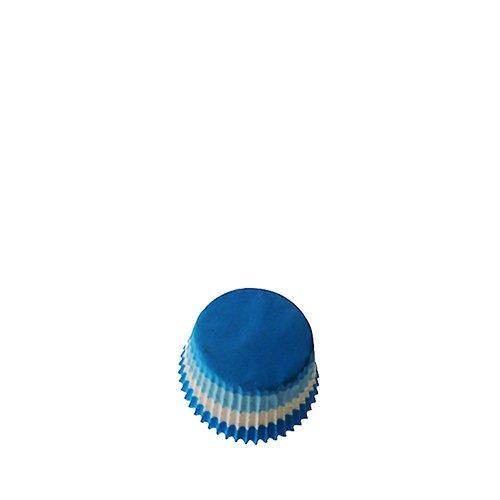 Fox Run Mini Muffin Cups Blue White Wavy 48pk
