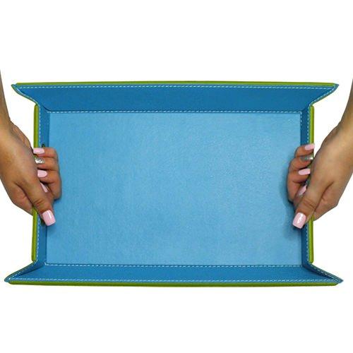 FreeForm Reversible Tray Green/Turquoise 45x35cm