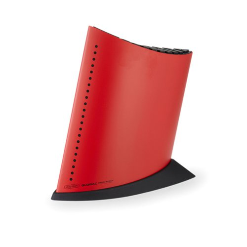 Global Ship Shape Knife Block Red
