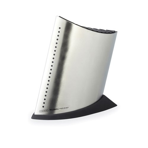 Global Ship Shape Knife Block Stainless Steel