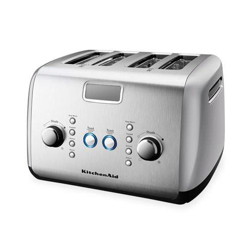 Kitchenaid artisan 4 slice toaster contour silver free shipping - Artisan toaster slice ...