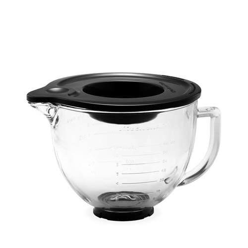KitchenAid Glass Mixing Bowl w/ Silicone Lid 4.7L