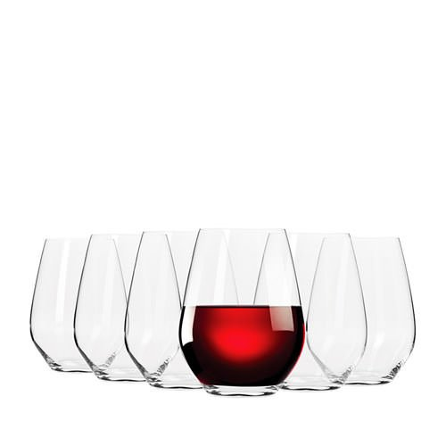 Krosno Flair Stemless Red Wine Glass 550ml Set of 6