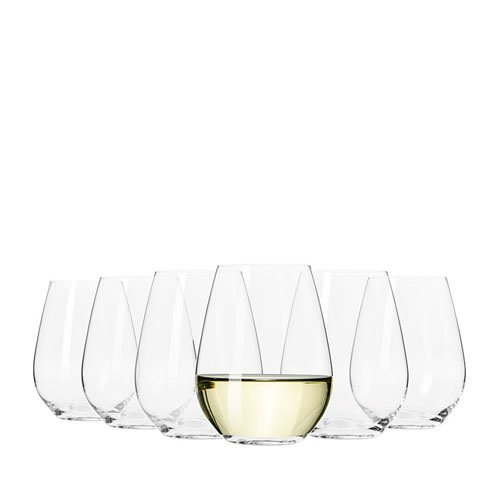 Krosno Flair Stemless White Wine Glass 420ml Set of 6