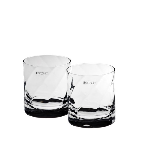Krosno Silhouette Double Old Fashion Glass Set of 2