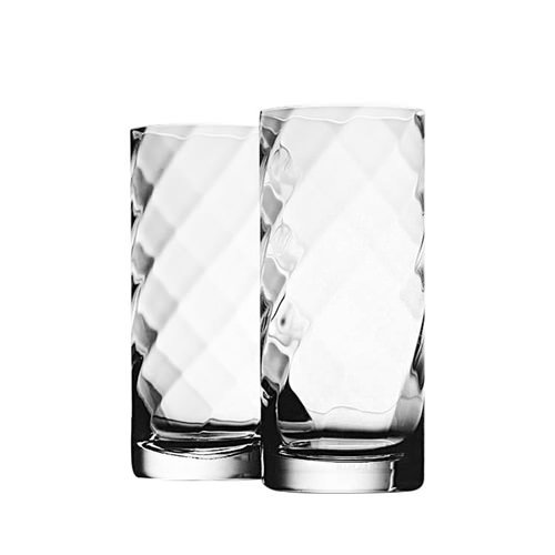 Krosno Silhouette Hi-Ball Glass 380ml Set of 2