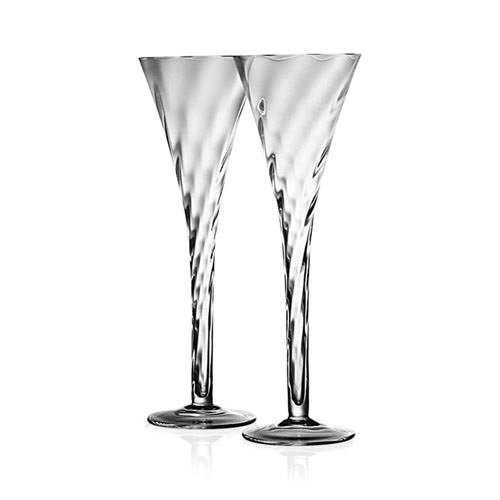 Krosno Silhouette Hollow Stem Champagne Flute Set of 2