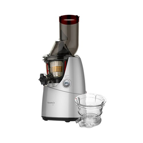 Kuvings Whole Fruit Vegetable Juicer Silver with Bonus Sorbet Maker Attachment