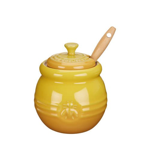 Le Creuset Honey Pot & Dipper Dijon