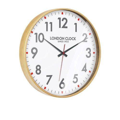 London Clock Company Large Boho Natural Wood 53cm