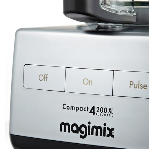 Magimix 4200XL Food Processor Matte Chrome w/ XL Feed Tube