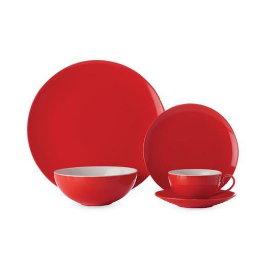 Maxwell Williams Colour Basics Coupe Dinner Set 20pc Red