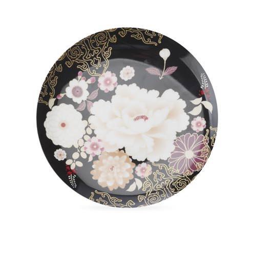 Maxwell & Williams Kimono Cake Plate Black
