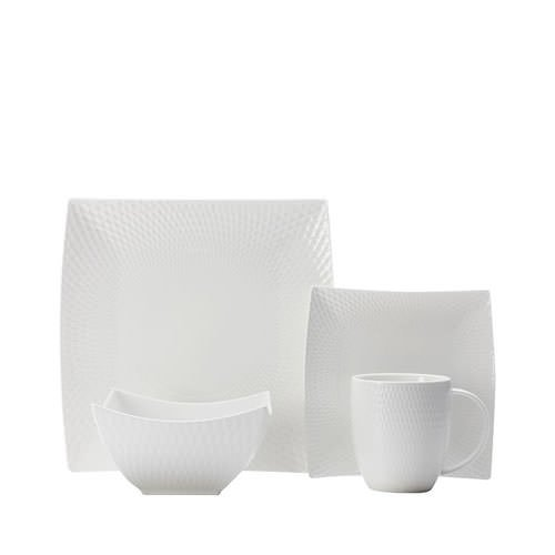 Maxwell & Williams White Basics Diamonds 16pc Dinner Set