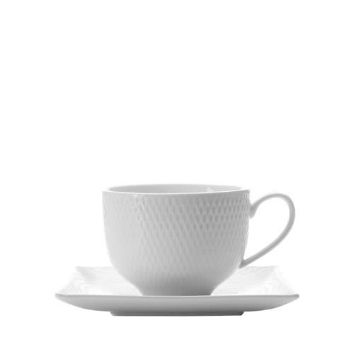 Maxwell & Williams White Basics Diamonds Cup and Saucer 220ml