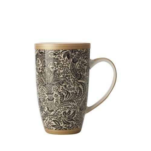 Maxwell & Williams William Morris Black Seaweed Coupe Mug 420ml