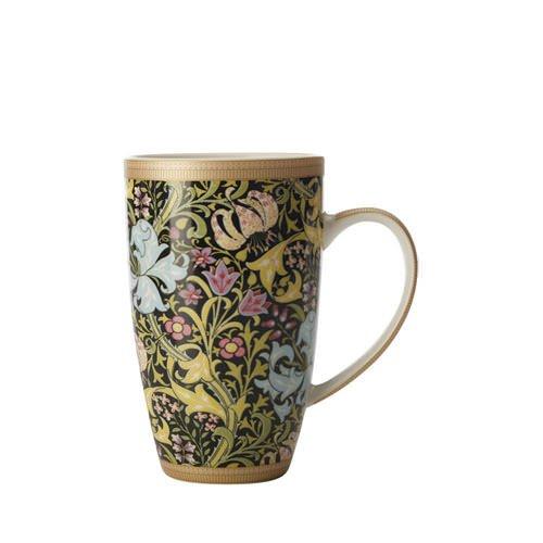 Maxwell & Williams William Morris Golden Lily Coupe Mug 420ml Black