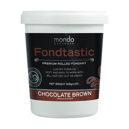 Fondtastic Premium Rolled Fondant Chocolate Brown
