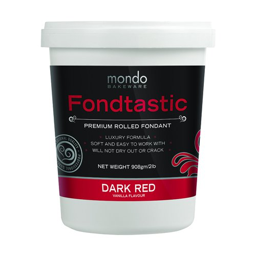 Fondtastic Premium Rolled Fondant Dark Red