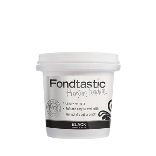 Fondtastic Premium Rolled Fondant Mini Tub Black 225g