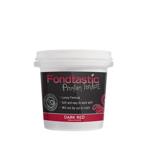 Fondtastic Premium Rolled Fondant Mini Tub Dark Red 225g