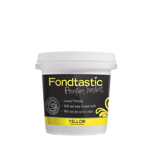 Fondtastic Premium Rolled Mini Tub Yellow 225g