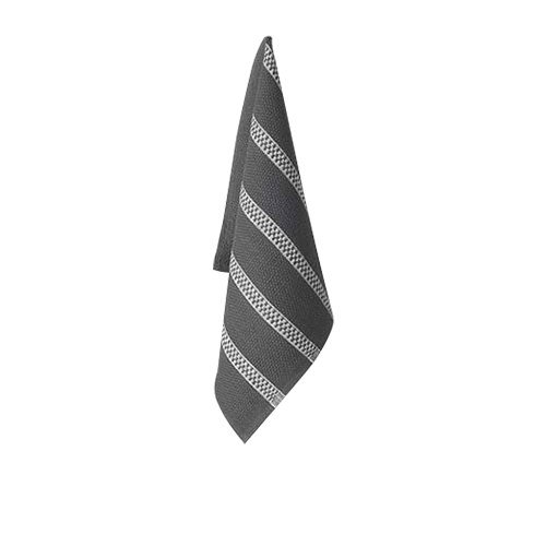 Ogilvies Designs Tea Towel Charcoal/White