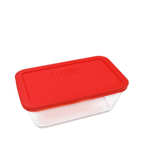 Pyrex Rectangle Storage 1L Red