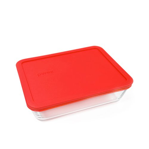 Pyrex Rectangle Storage 2.6L Red