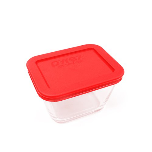 Pyrex Rectangle Storage 450ml Red