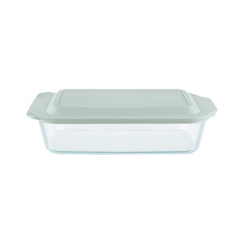 Pyrex Rectangular Deep Dish w/ Sage Lid 4.7L
