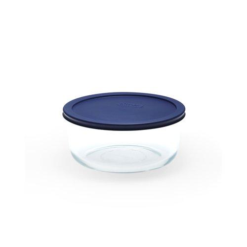 Pyrex Round Glass Storage 1.65L Blue