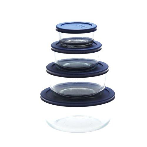 Pyrex Round Glass Storage 250ml Blue