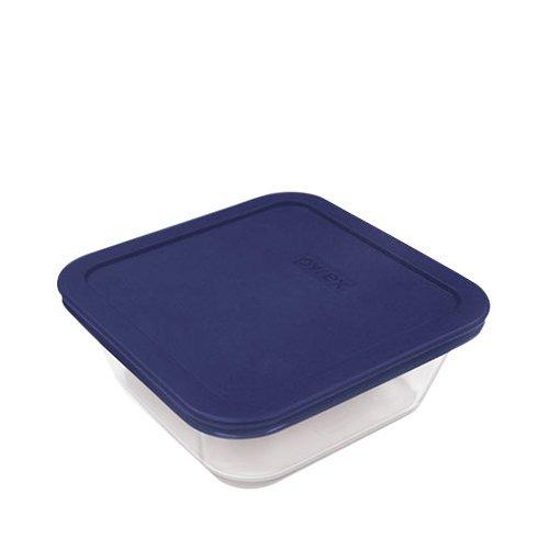 Pyrex Square Glass Storage 950ml Blue