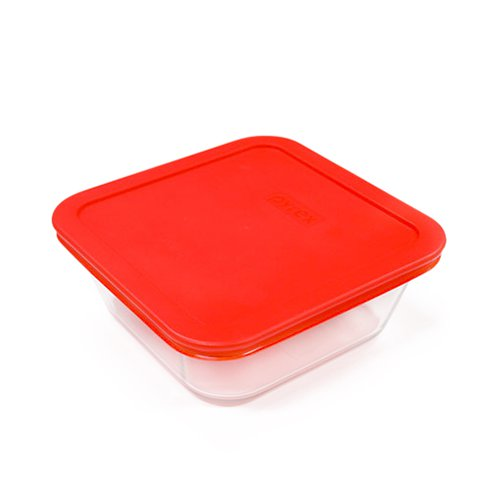 Pyrex Square Storage 950ml Red