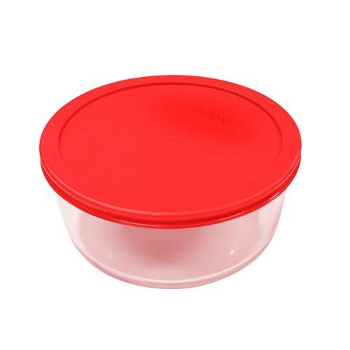 Pyrex Round Storage 1.6L Red