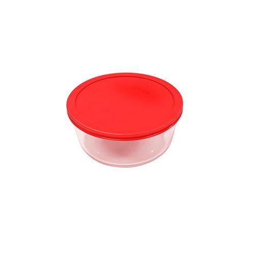 Pyrex Round Storage 470ml Red