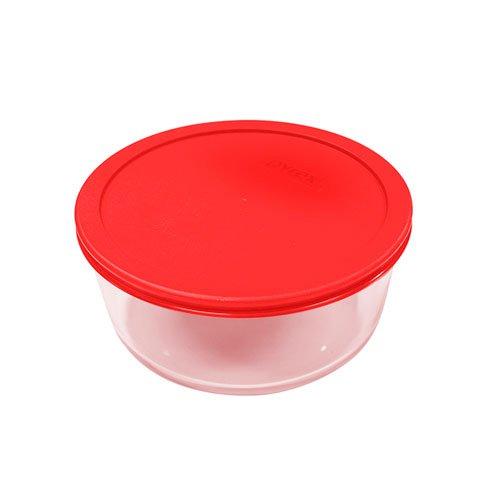 Pyrex Round Storage 950ml Red