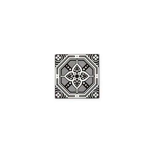 Rapee Coaster Set of 4 Mosaic Flower Black - 3
