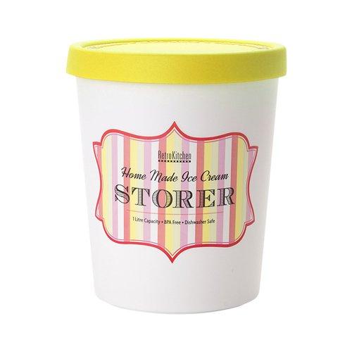 Retro Kitchen Ice Cream Storer 1L Lemon Fast Shipping