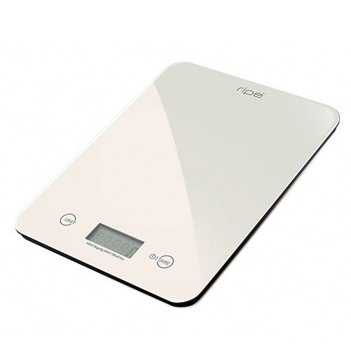 Ripe Reflection Glass Kitchen Scale 10kg Almond