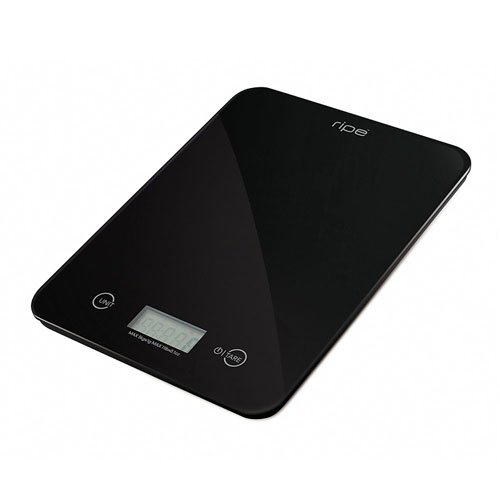 Ripe Reflection Glass Kitchen Scale 10kg Caviar