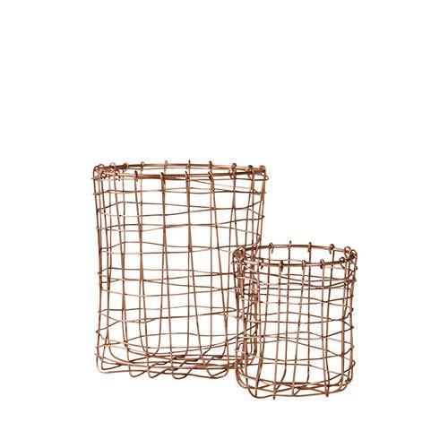 Robert Gordon Utensil Basket Set of 2 Copper