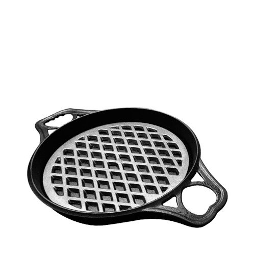 SOLIDTEKNICS AUSFonte Cast Iron Set BIGskillet Pan 32cm with Grill-it 30cm